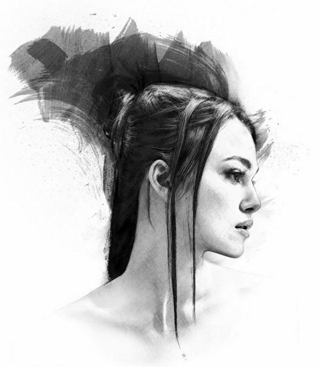 Imágenes Arte Pinturas Dibujos De Rostros En Tinta China Muy Fáciles Yuriy Ratush Tinta China Rostros Retratos