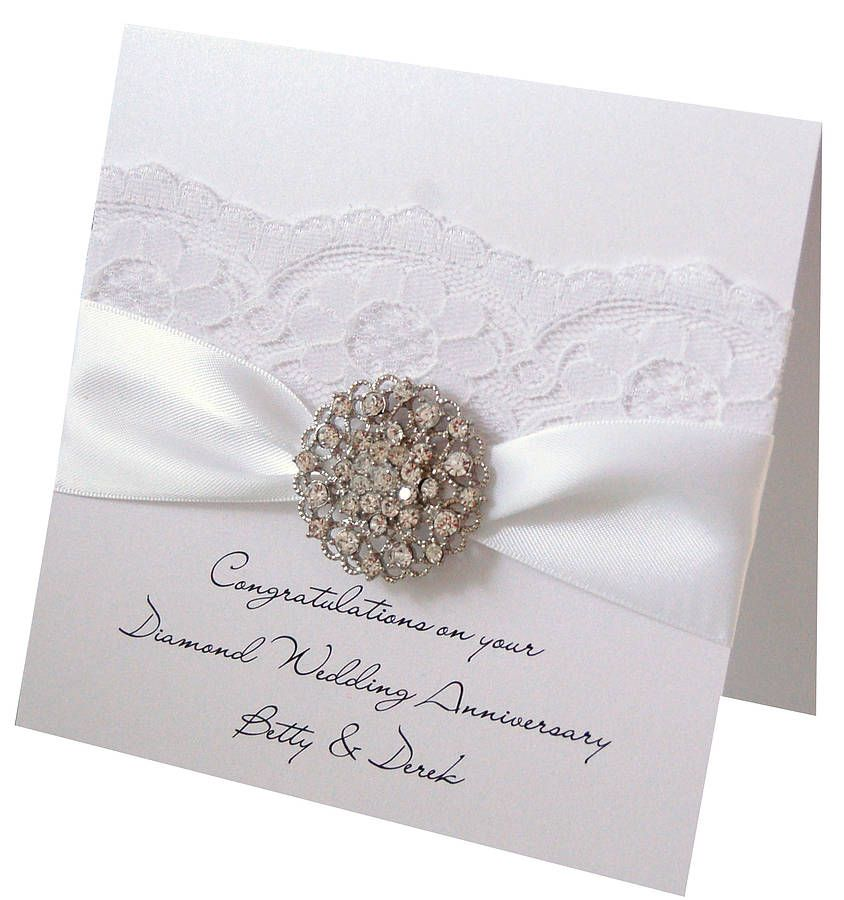 Card Making Ideas For 60th Anniversary Part - 24: Opulence Diamond Wedding Anniversary Card. For 60th Wedding Anniversaries.  Can Be Personalised Too
