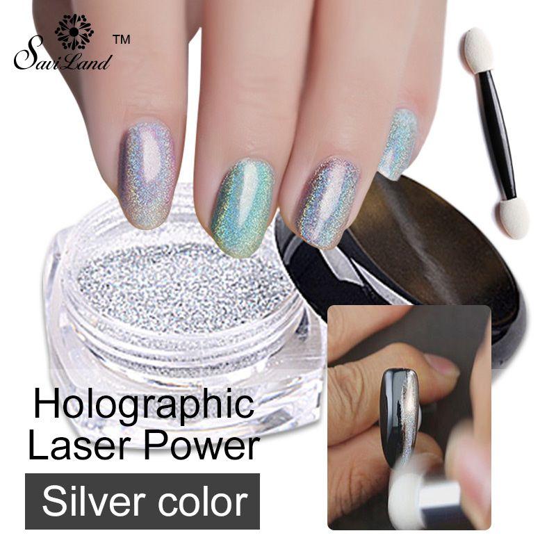 1 Box Laser Silver Glitters Nail Holographic Sequins Nail Paillettes Laser Glitter Dust Hologram Nail Sparkle Glitter