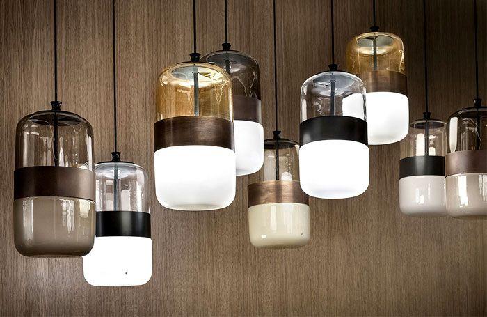 Futura Lamps In Three Exclusive Color Combination Contemporary Glass Lighting Modern Lamp Vistosi