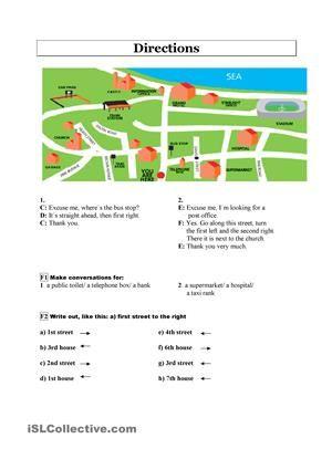 giving directions english worksheets esl educacion. Black Bedroom Furniture Sets. Home Design Ideas
