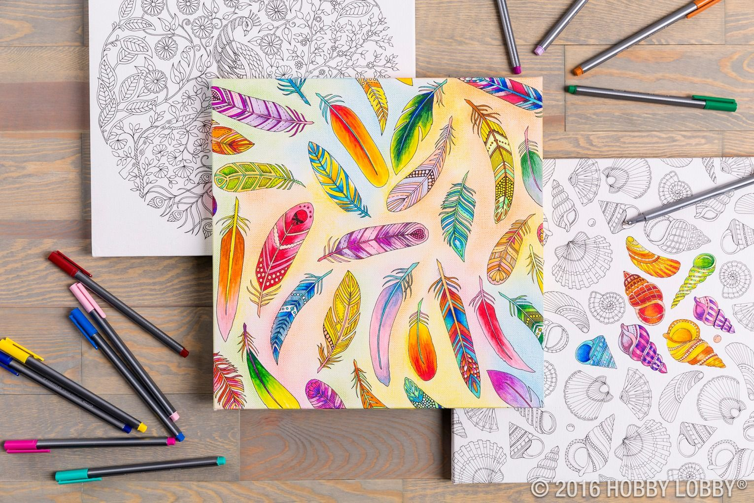 Let your creativity flow on a beautifully detailed coloring