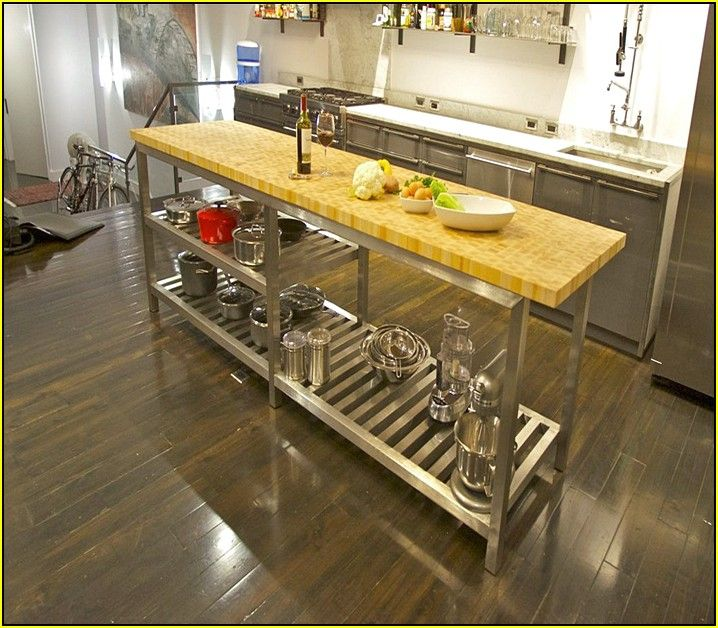 Stainless Steel Kitchen Island With Butcher Block Top Kitchen Island Furniture Butcher Block Island Kitchen Kitchen Island With Butcher Block Top