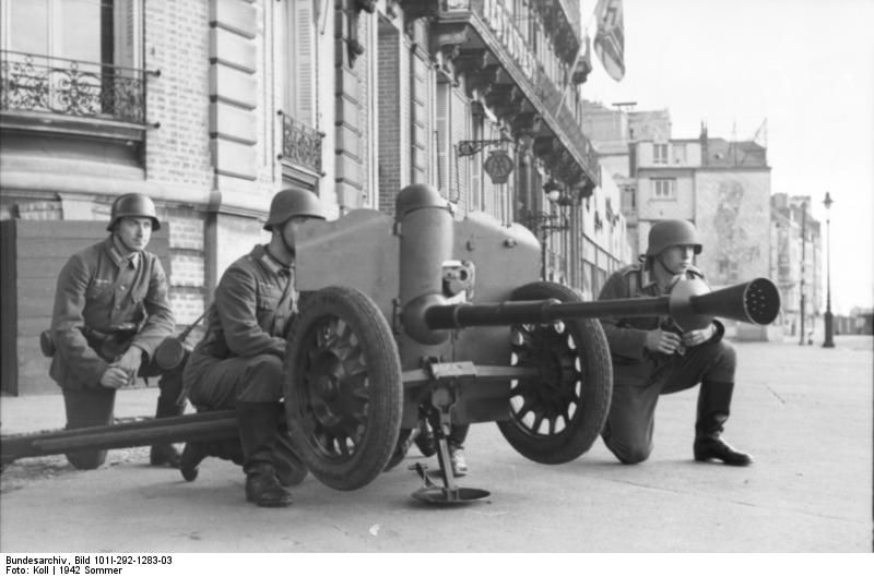 German 50 Mm Anti Tank Gun: Northern France, June 1942: German Soldiers During