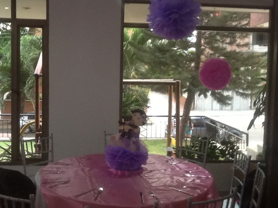 Centro de mesa para baby shower