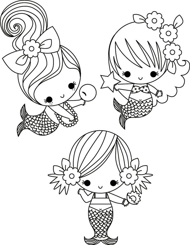 Now These Are Cute Mermaid Coloring Pages Cute Coloring