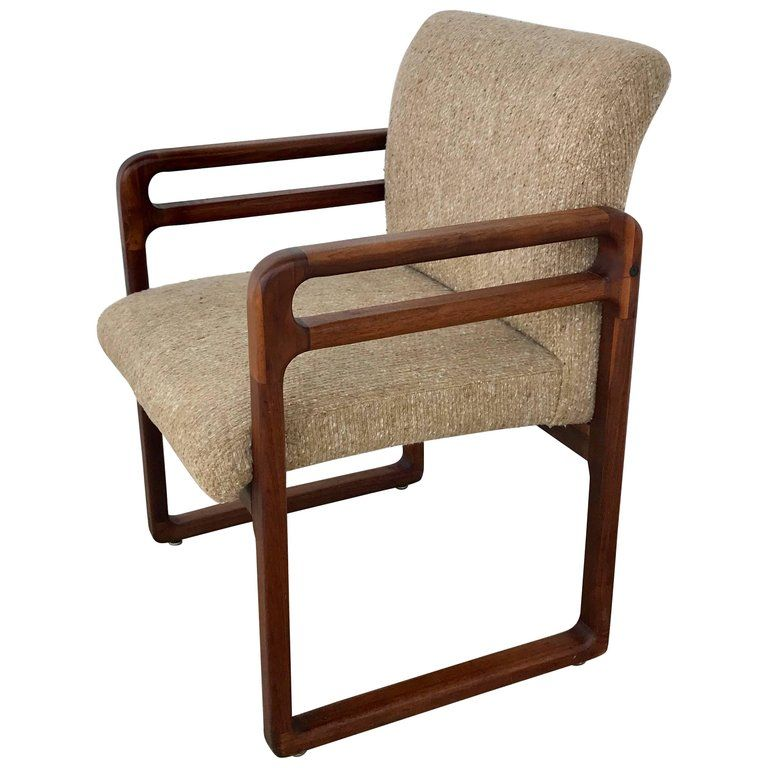 For On 1stdibs Good Danish Modern Teak Arm Or Desk Chair Frame With Floating Carved Double Rests Upholstered Seat And Back Ready Com