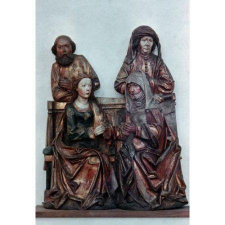 Alterpiece - Detail C1500 Riemenschneider Tilman(ca1460-1531 German) Wood Main-Franconian Museum Wurzburg Germany Canvas Art - Tilman Riemenschneider (18 x 24)