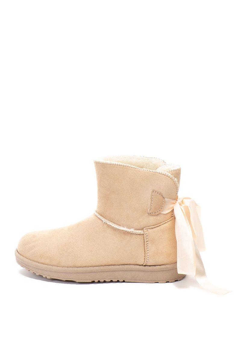 aspect nou pantofi ieftin mai tarziu Cizme scurte de piele intoarsa sintetica Caracteristici Tip: cizme ...