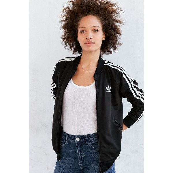 a7f844ac adidas Originals Supergirl Track Jacket ($70) ❤ liked on Polyvore featuring  activewear, activewear jackets, adidas sportswear, adidas activewear, track  ...