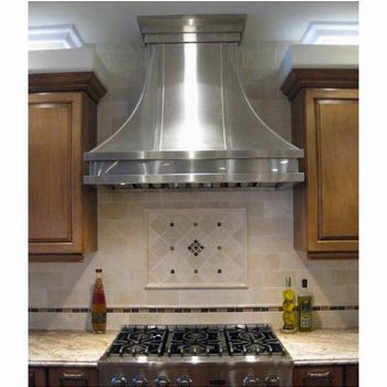 Range Hoods Ps33 Professional Series Curved Wall Mount Rangehood By Modern Aire Kitchen Range Hood Lake House Kitchen Kitchen Exhaust