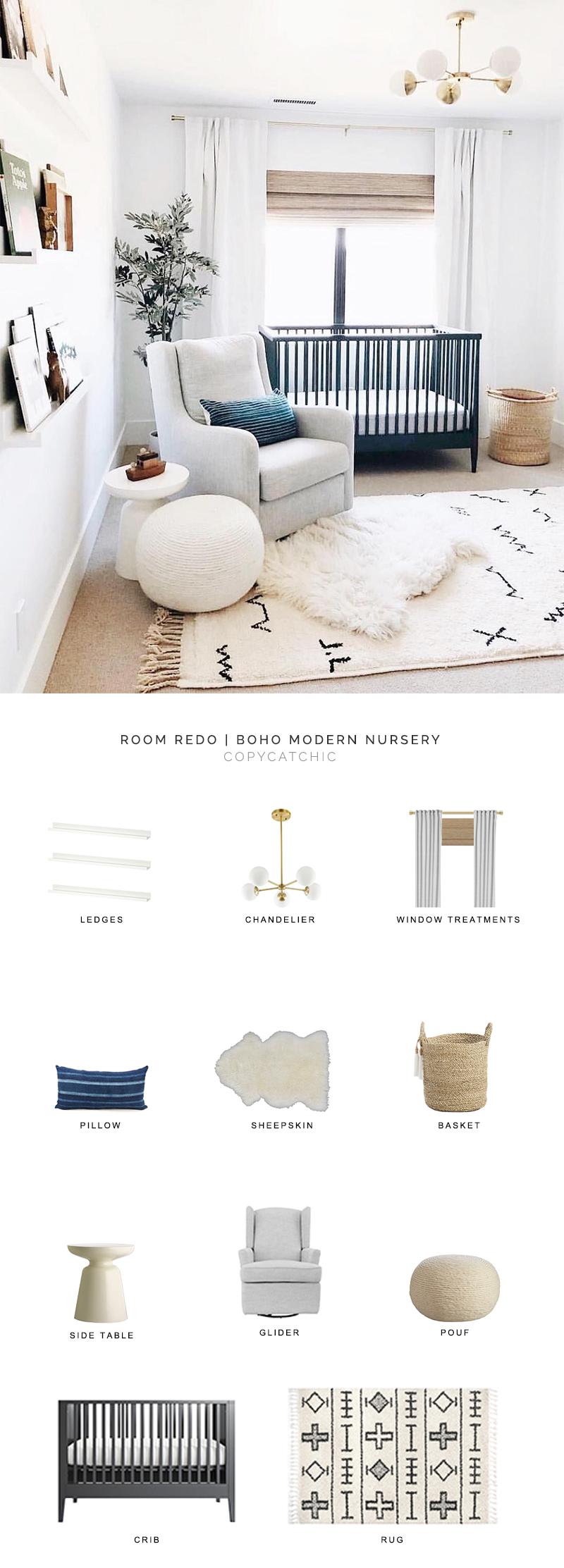 Room Redo | Boho Modern Nursery - copycatchic