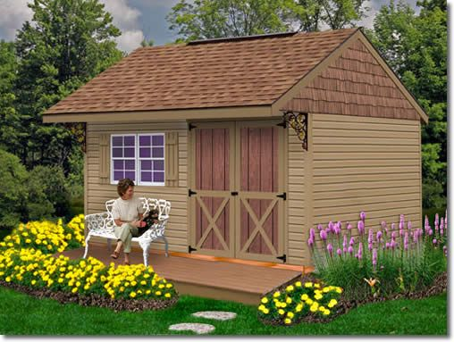 Clarion 14 X10 10 X 10 Shed Kit Vinyl Storage Sheds Shed Storage Wood Storage Sheds