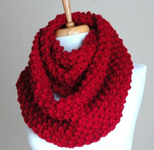 Hand Knit Infinity Scarf Knit In A Highly Textured Popcorn Stitch In