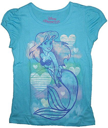 Disney Little Mermaid Ariel Hearts Short Sleeve Girls T-Shirt (6, Sky Blue) Disney http://www.amazon.com/dp/B01BH7DGFA/ref=cm_sw_r_pi_dp_VhTTwb1P3PWCM
