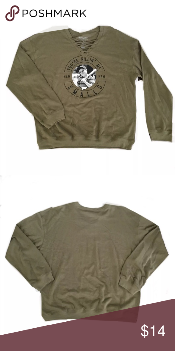 5d639cf661005 Sandlot You re Killin  Me Smalls Sweatshirt You re Killin  Me Smalls Lace  up sweatshirt size medium. Sandlot Tops Sweatshirts   Hoodies