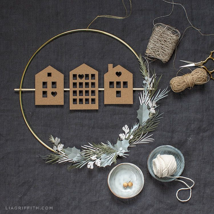 Photo of Scandi House and Greenery Wreath Tutorial – Lia Griffith