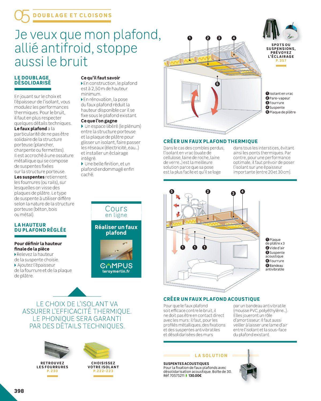 Comment Isoler Un Plafond Contre Le Bruit rénover & construire | isolation phonique, construire, isolation