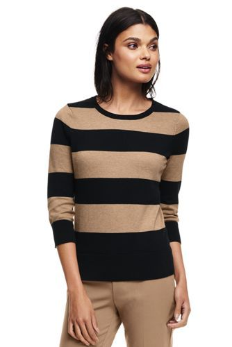08bf278ffb12 Women's+Supima+Cotton+3/4+Sleeve+Sweater+from+Lands'+End | Wear ...