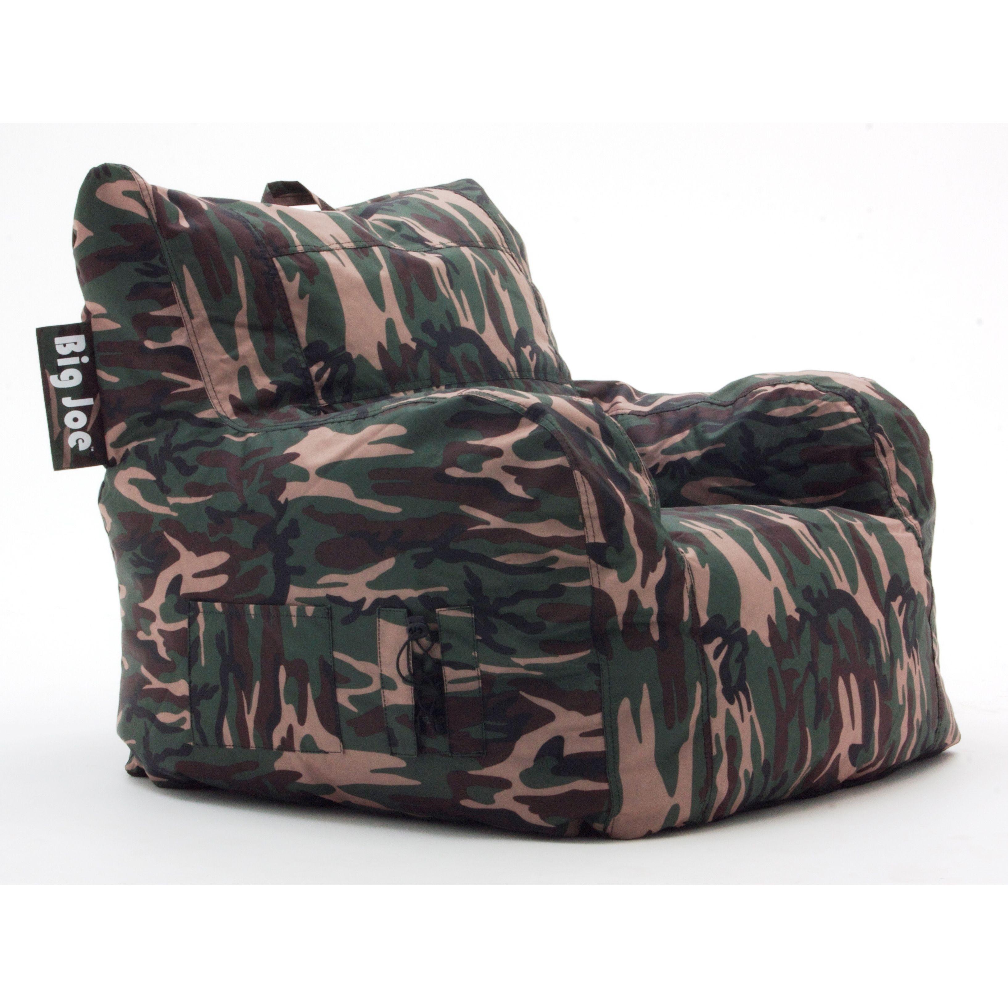Cool Beansack Big Joe Camoflauge Lounge Chair Overstock Com Creativecarmelina Interior Chair Design Creativecarmelinacom