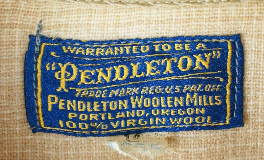 Pendleton label from the 1930s and 1940s. | Pendleton