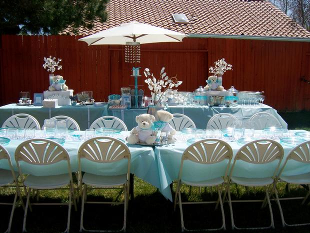 Lovely Tiffanyu0027s Baby Shower Table Setting...whoa