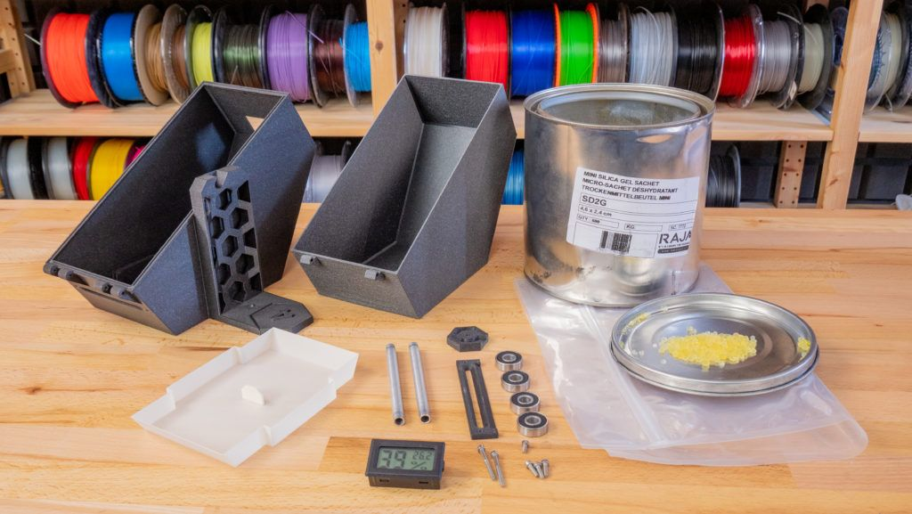 Filament dryboxes and alternative spool holders not only