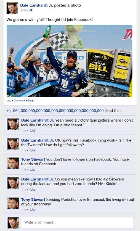 Nascar Humor Dale Earnhardt Jr Talladega 2015 Win Dale Earnhardt