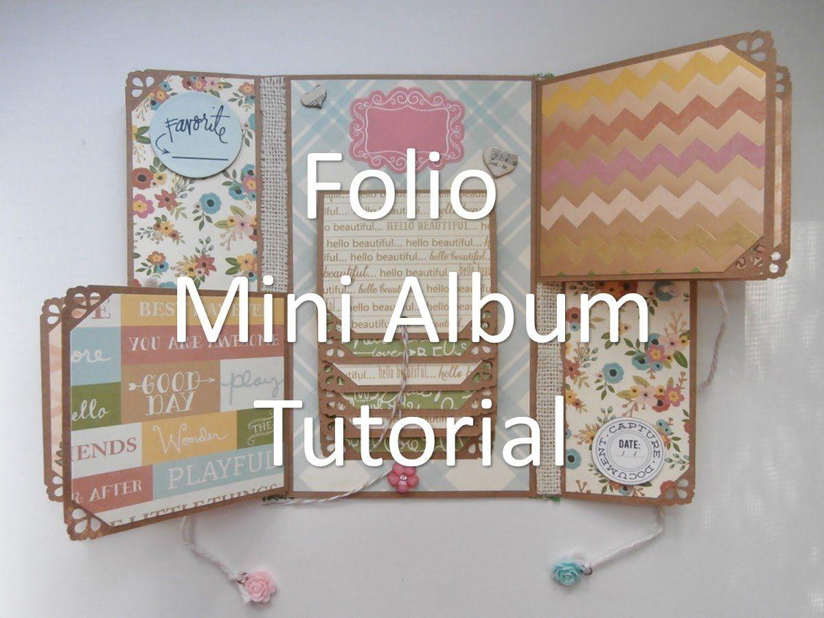 How to scrapbook a mini album - Mother S Day Folio Mini Album Tutorial Scrapbooking