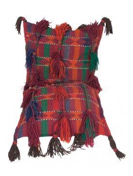 Multi-Color Wool Uzbek Saddle Bag 52.5in x 26in
