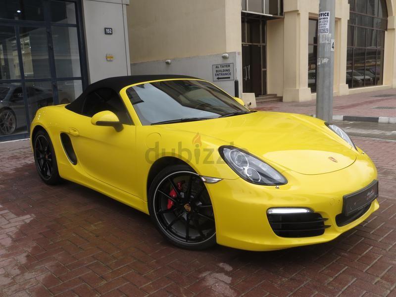 Dubizzle Dubai Boxster Porsche Boxster S 2016 Yellow With