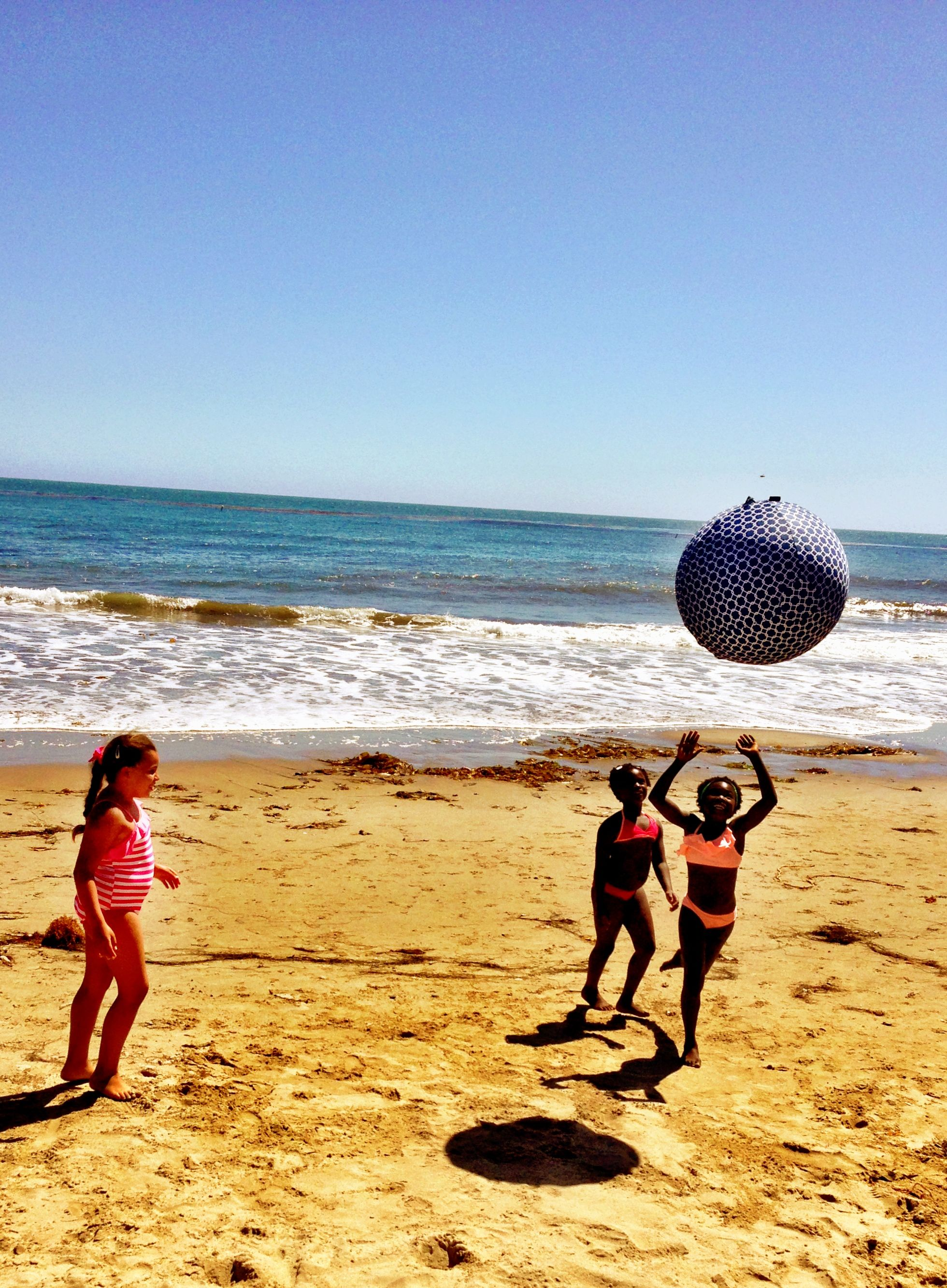 Summertime and the livin's easy.. | www.myball.co/shop  #summertime #beachfun #beach #ball #play #kids