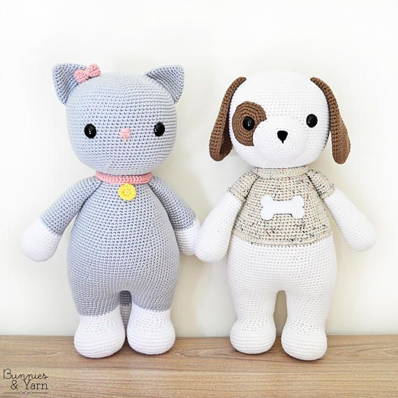 TWO CROCHET PATTERNS in English and Spanish - Thomas the Dog and ...