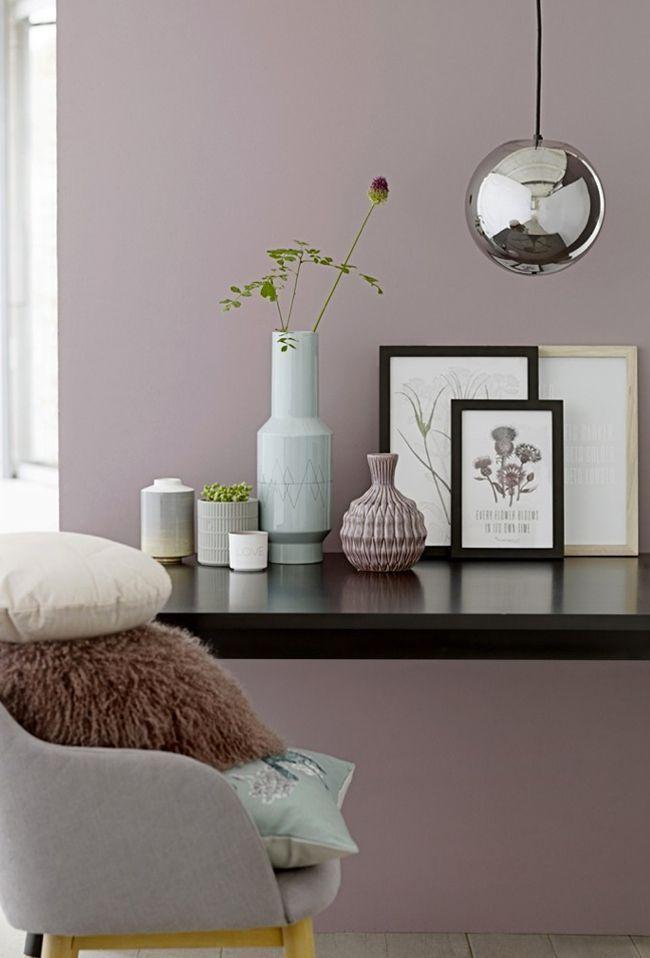 Ein Sanftes Altrosa Als Wandfarbe. #Wandgestaltung #Wohnideen #Wandfarbe  #Rose #Altrosa