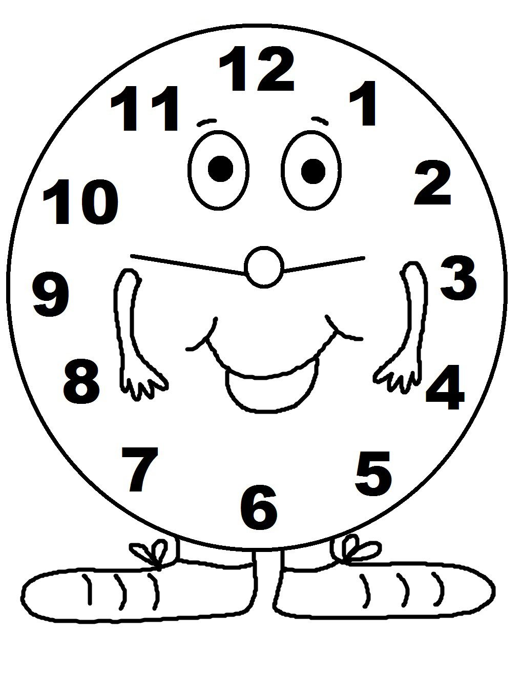 Relojes Animados Para Pintar Buscar Con Google Bear Coloring Pages Coloring Pages Coloring Pages For Kids