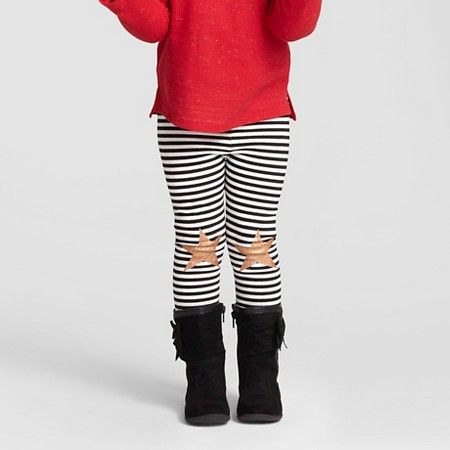 Toddler Girls' Favorite Legging Multi Stripe Black - Cat & Jack™ : Target