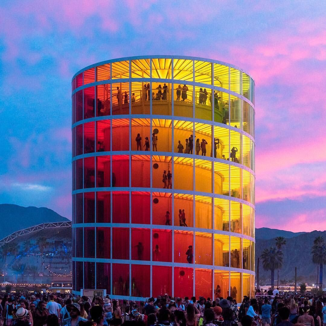 Spectra A Seven Story 360 Degree Observation Deck Soothed Over Stimulated Concert Goers At Coachella Earlier This Y Building Facade Building Architecture