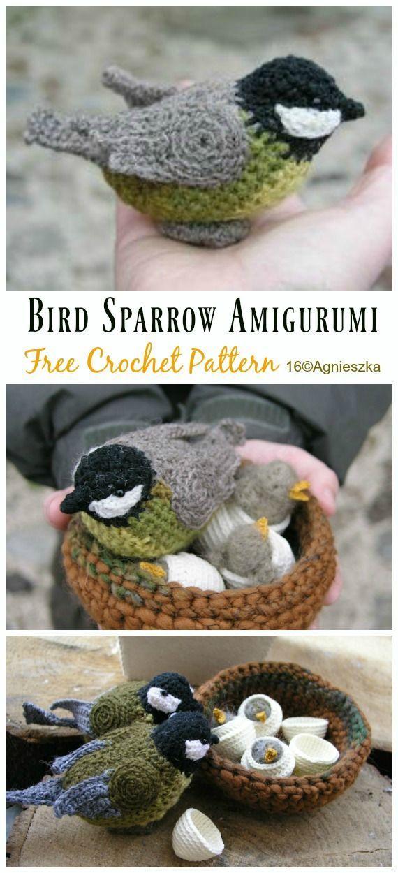 Amigurumi Spring Bird Crochet Free Pattern - Crochet & Knitting | 1250x570