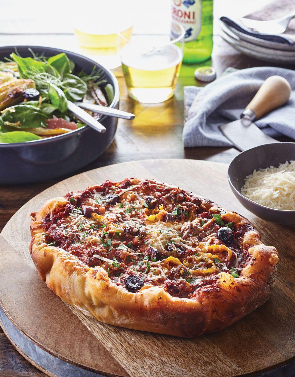 Slow Cooker Deep Dish Pizza Recipe Deep Dish Pizza Deep Dish