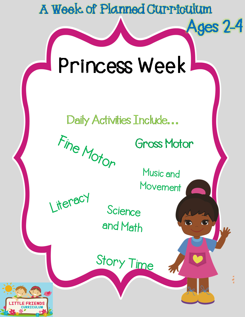 Preschool Lesson Plan Ideas for Princess Theme with Daily ...