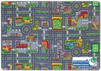 Alfombra trafico 140x200 cm para coches peque os cosas - Alfombra circuito coches ...