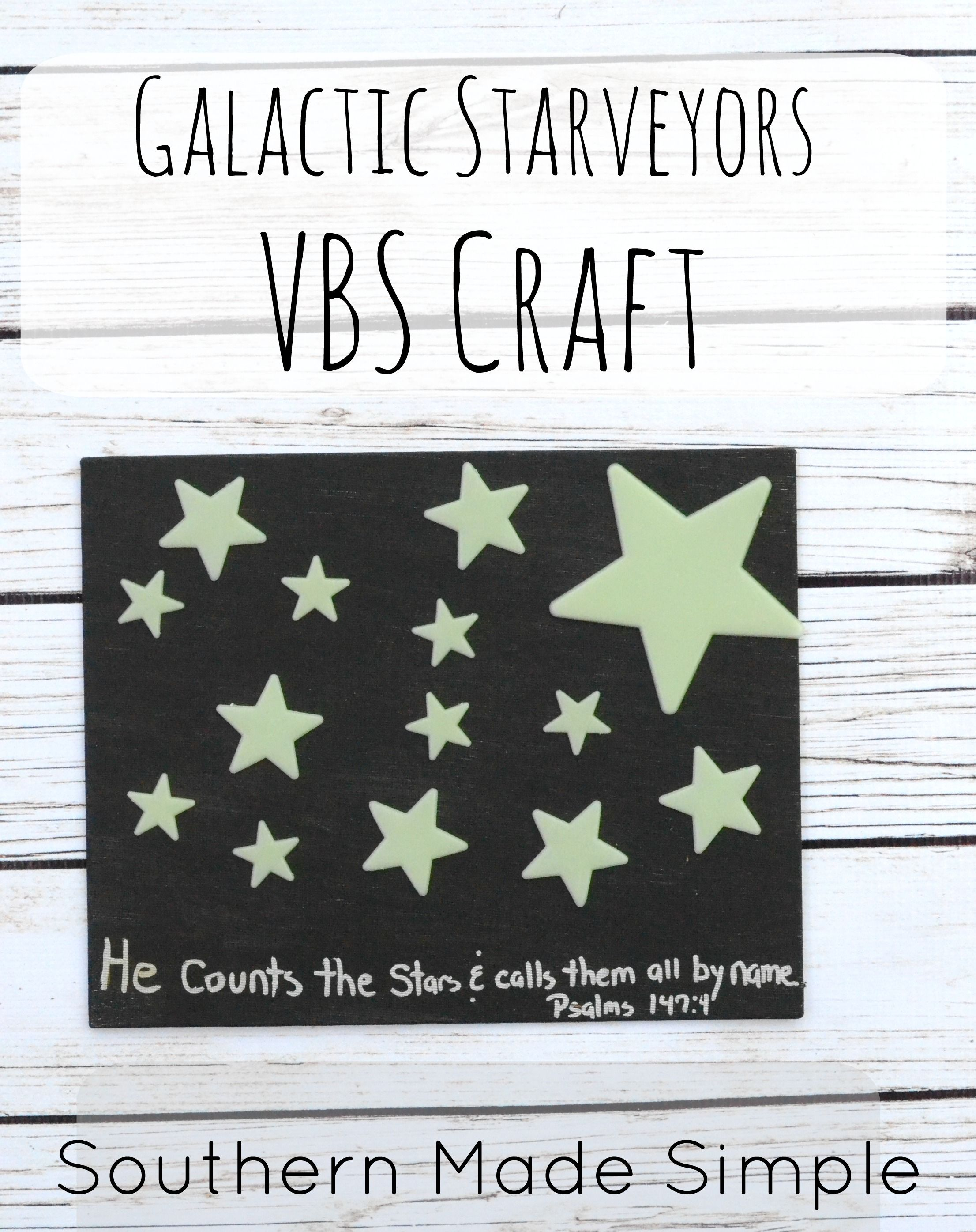 Easy Vbs Galactic Starveyors Craft Idea
