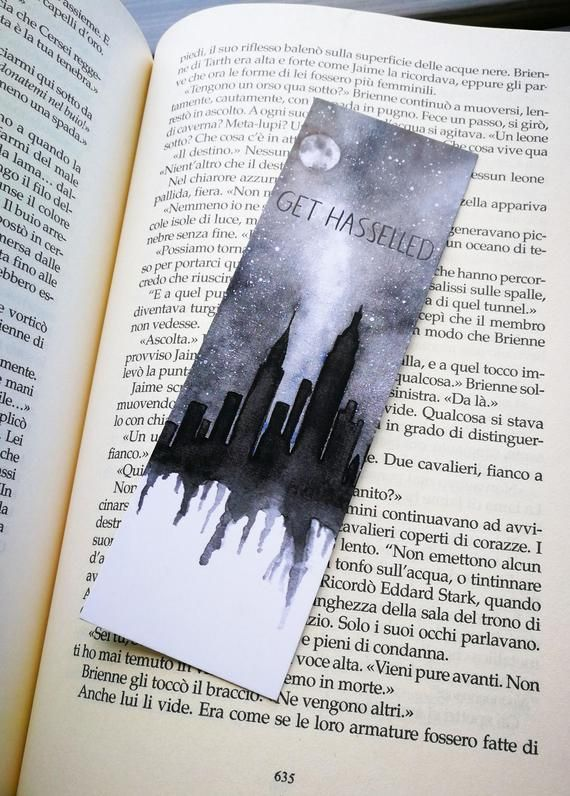 Bookmark Santino Hassell Watercolor Bookmark Get Hasselled