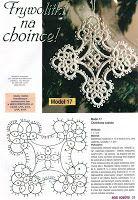 Фриволите: Схемы крестов - елочных украшений