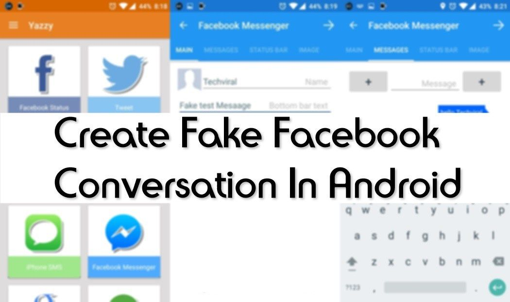 How To Make Fake Facebook Messenger Conversations On Android: Damn Fun