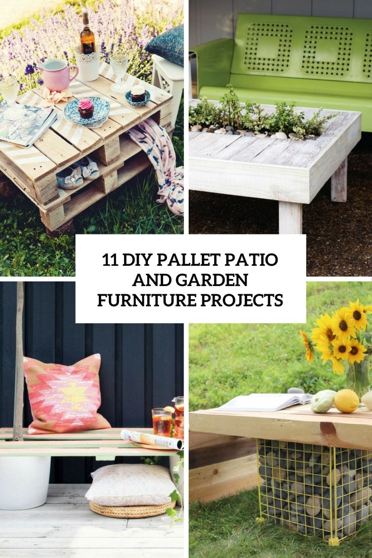 pallets patio furniture. 11 DIY Pallet Patio And Garden Furniture Projects For Your Home This Spring Pallets