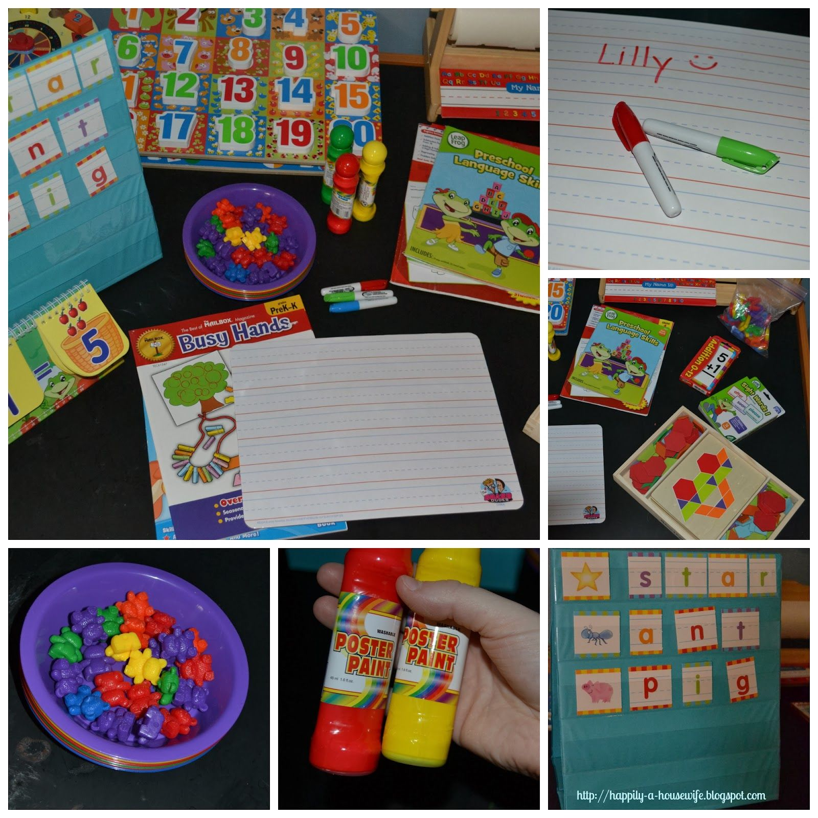 Happily A Housewife Preschool At Home Favorite Learning