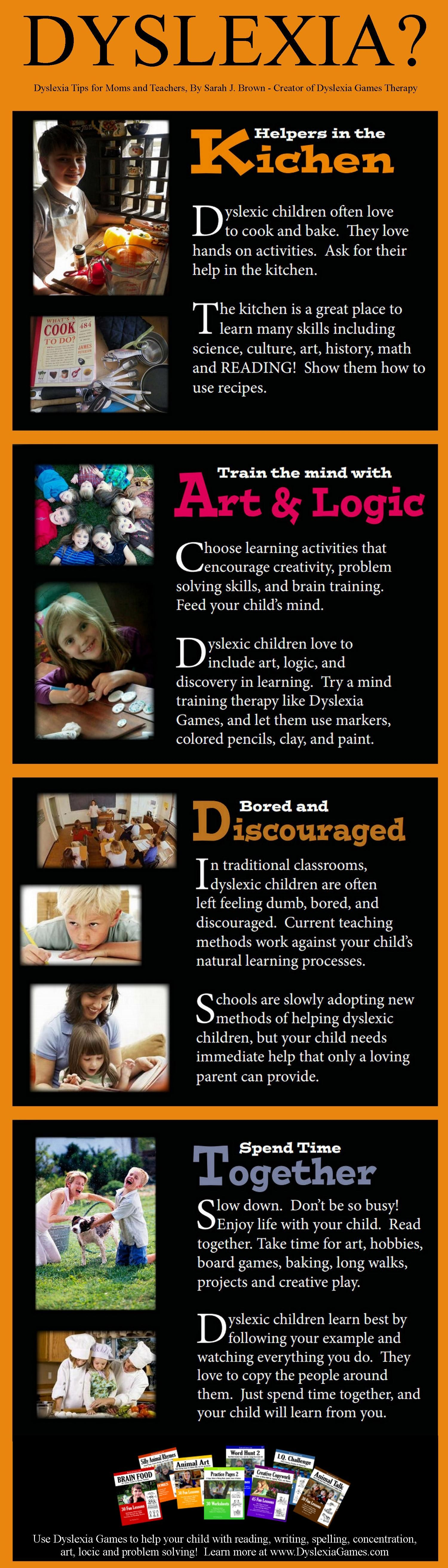 Dyslexia Tips For Moms And Teachers Infograph