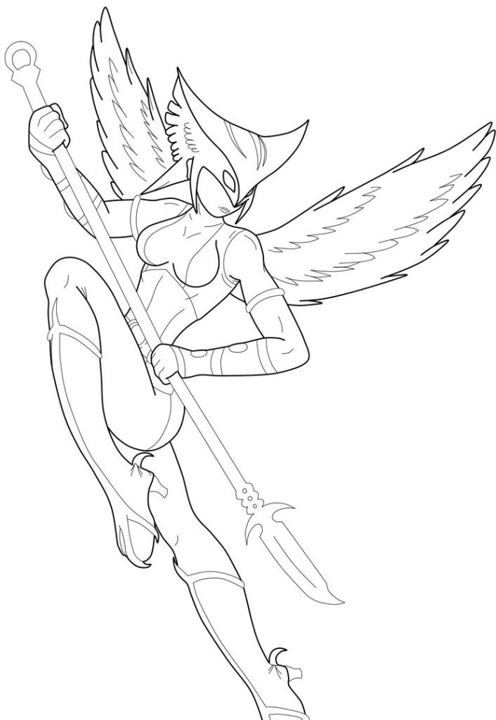 hawkgirl-coloring-pages-6.jpg (706×1024) | Coloring 4 Kids: DC Super ...