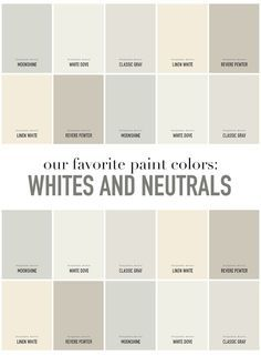 summerhouse designers favorite white and neutral paint colors